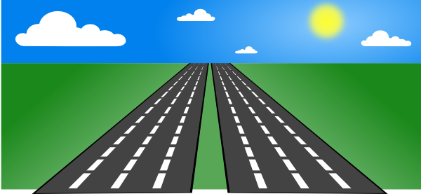 banner black and white Highway clipart background