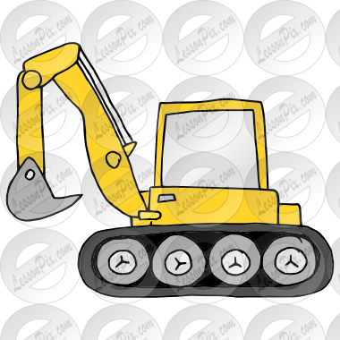 jpg free Backhoe clipart. Picture for classroom therapy