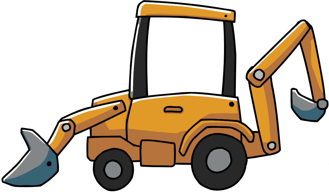 svg free stock Loader scribblenauts wiki fandom. Backhoe clipart