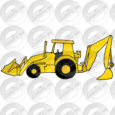jpg free Picture for classroom therapy. Backhoe clipart