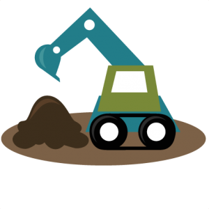 image library stock Svg file excavator tractor. Backhoe clipart