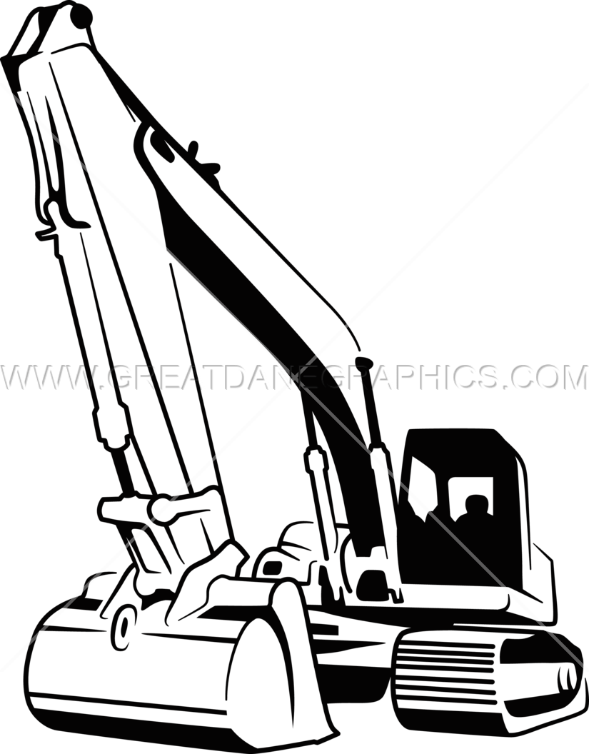 clip freeuse download Bulldozer clipart draw. Backhoe production ready artwork