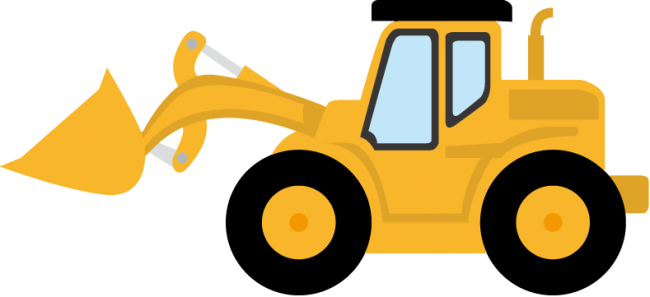 svg free stock Image of Bulldozer Clipart