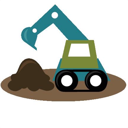banner freeuse Backhoe SVG file excavator svg file tractor svg files boy svg files