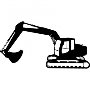 svg transparent download Bulldozer clipart excavator. Construction equipment silhouette at