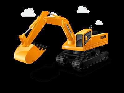 image transparent Infra bazaar buy sell. Vector machinery excavator