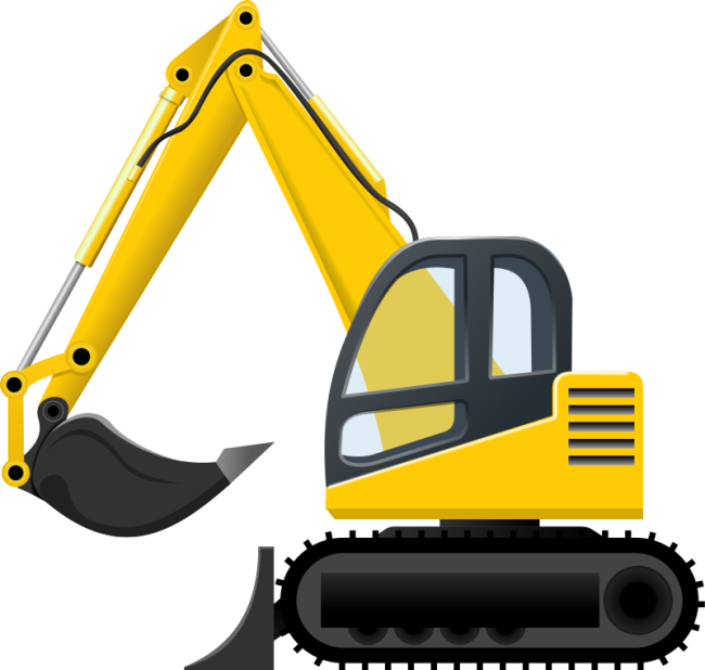 image library Backhoe Clipart craft projects
