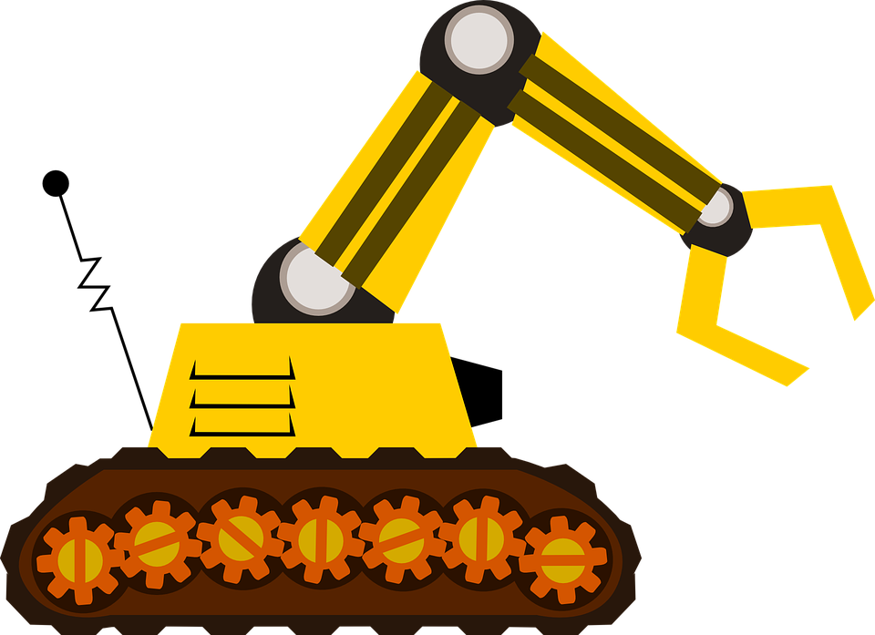 picture Collection of free Dozed clipart excavator arm