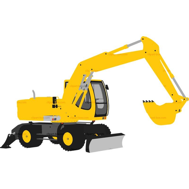 jpg transparent Backhoe clipart digger. Free excavator cliparts download