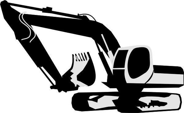 freeuse download Excavator free vector in. Backhoe clipart digger