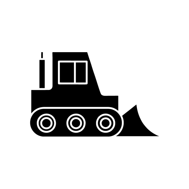 graphic black and white library Backhoe