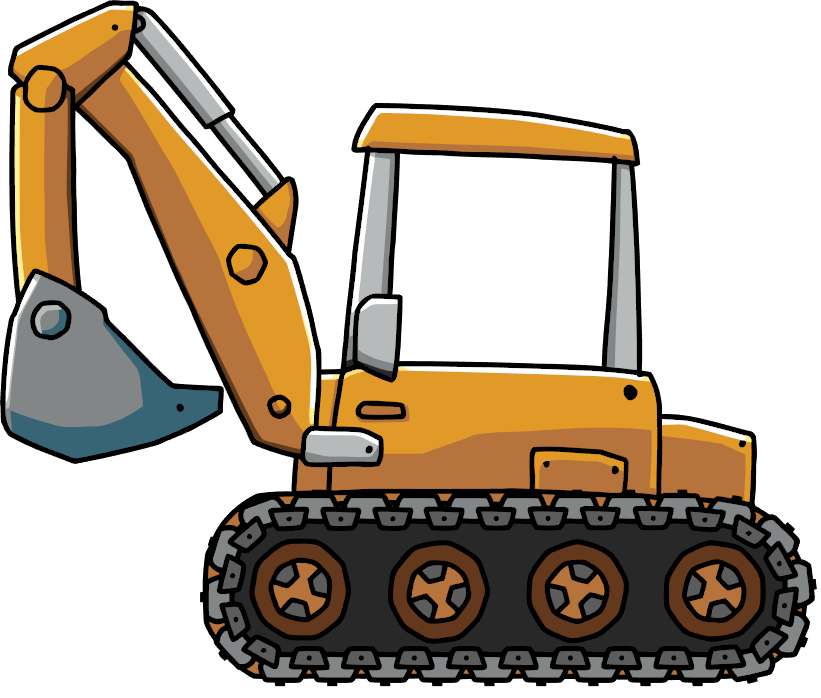 clip transparent stock Scribblenauts wiki fandom powered. Backhoe clipart gambar