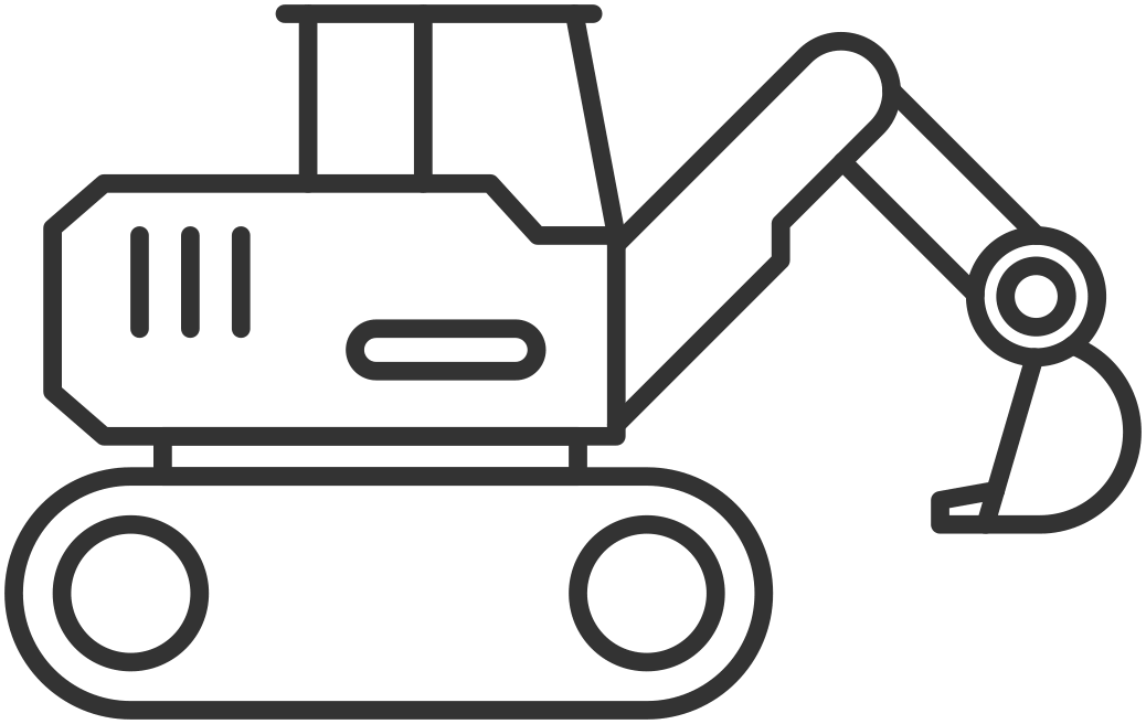 svg black and white download Civil clipart equipment bobcat. Backhoe wheel loaders for.