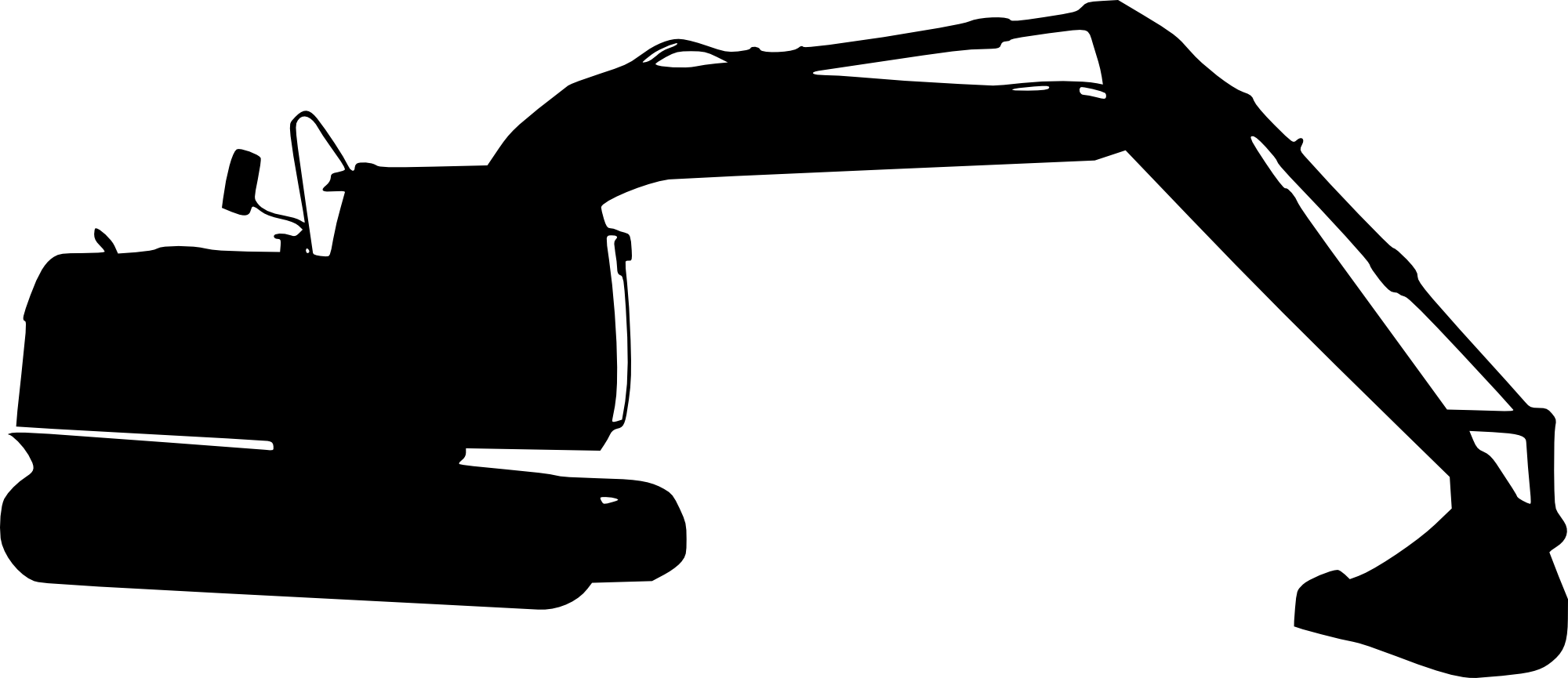jpg transparent download Backhoe clipart silhouette. Digger at getdrawings com