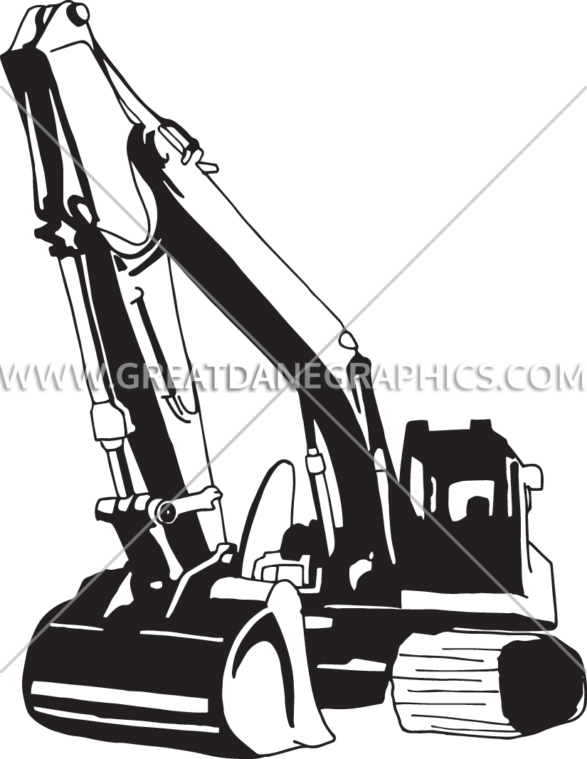 clipart free download Backhoe drawing at getdrawings. Bulldozer clipart excavator bobcat.