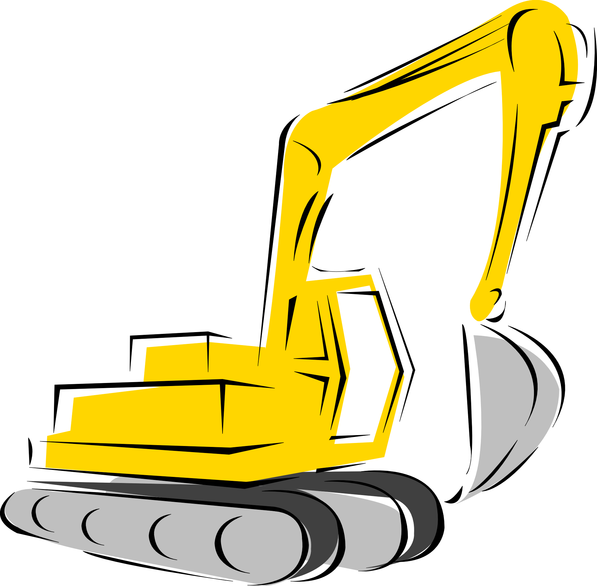 picture royalty free download Bulldozer clipart sketch. Backhoe silhouette at getdrawings