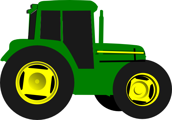 vector black and white John deere clipart children's. Green tractor clip art