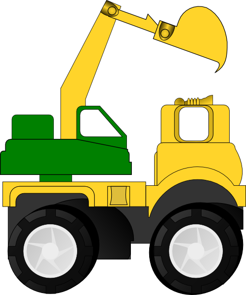 png black and white library Cartoon Excavator Clip Art at Clker