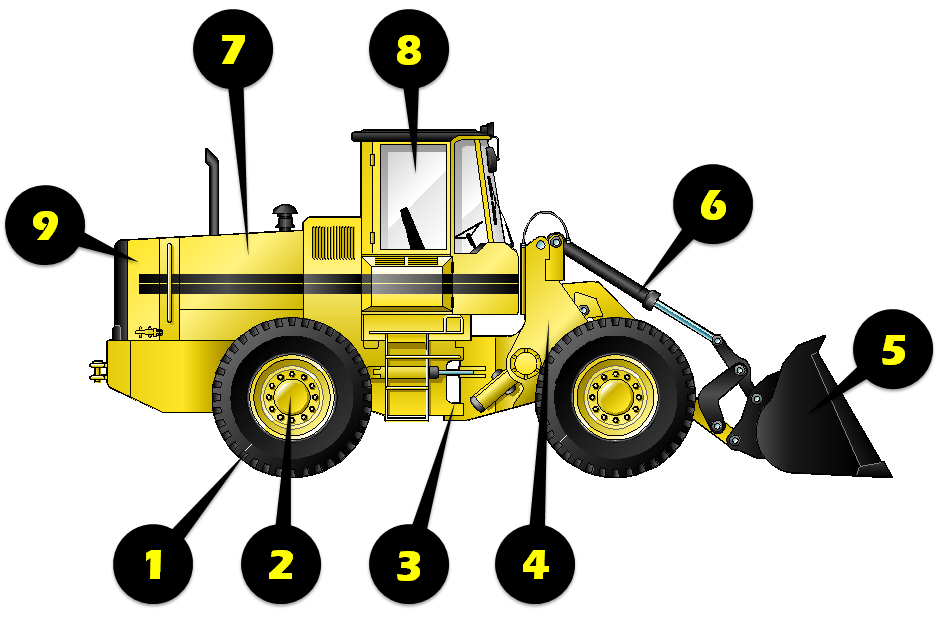 svg transparent download Used inspection top bid. Wheel loader clipart