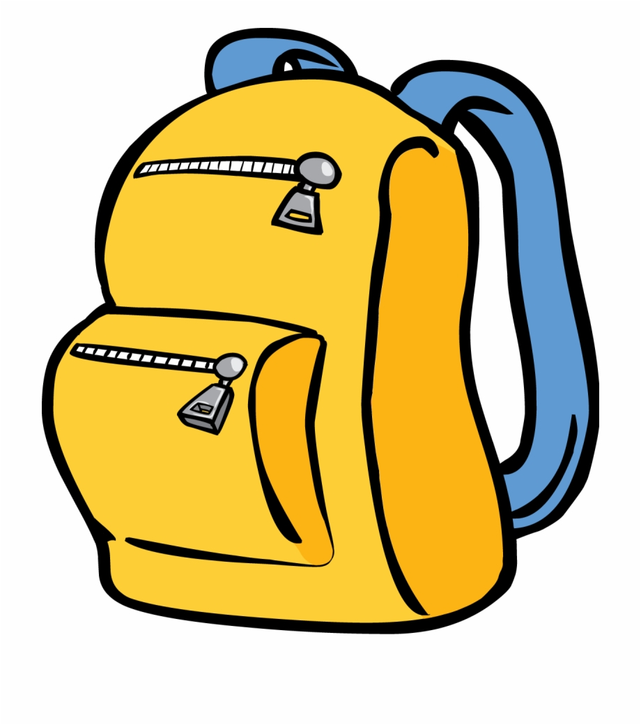picture transparent stock Yellow . Backpack clipart.