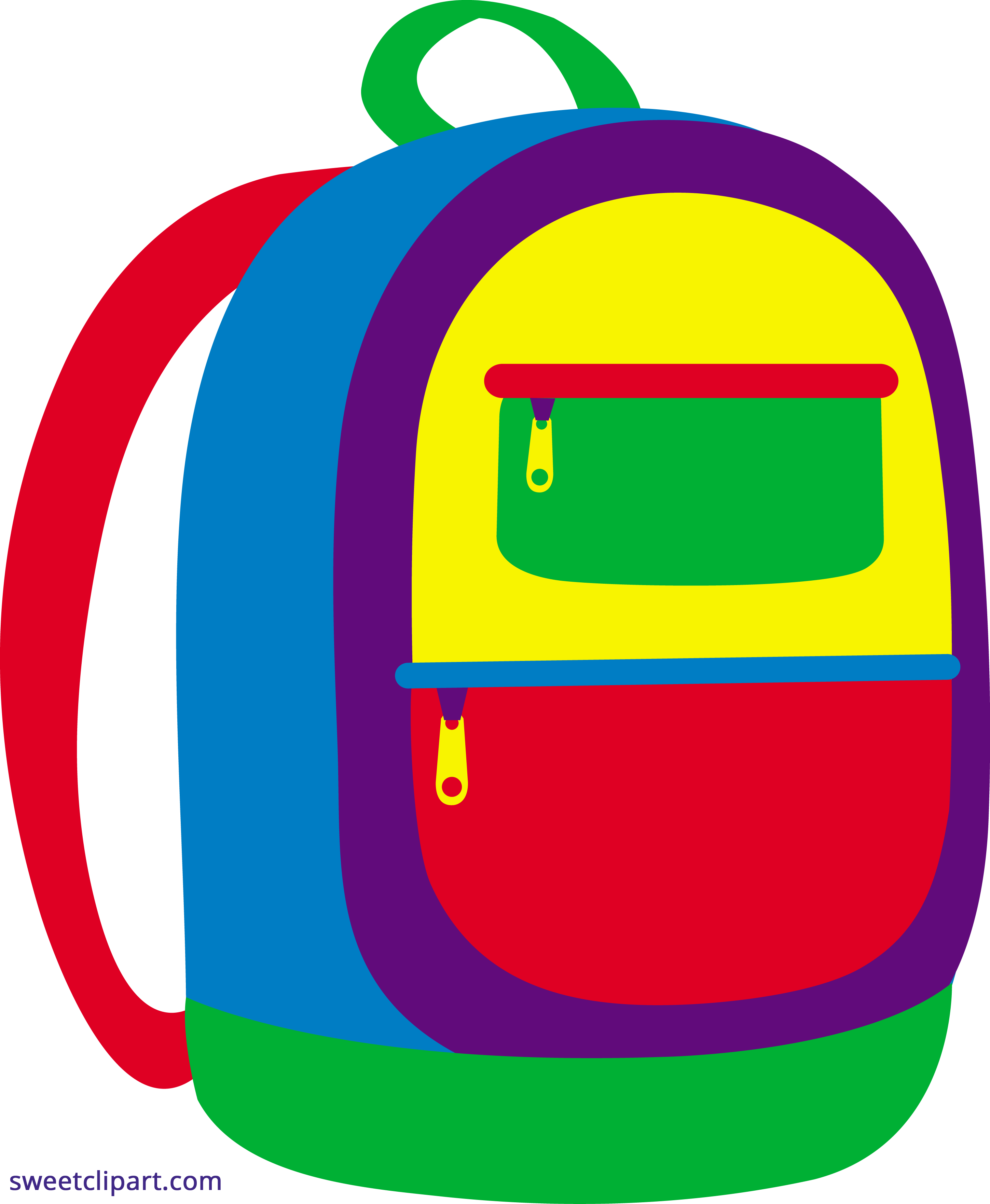 jpg library download Backpack clipart. Colorful sweet clip art.