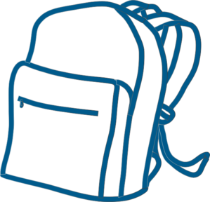 royalty free School panda free images. Bookbag clipart brown backpack