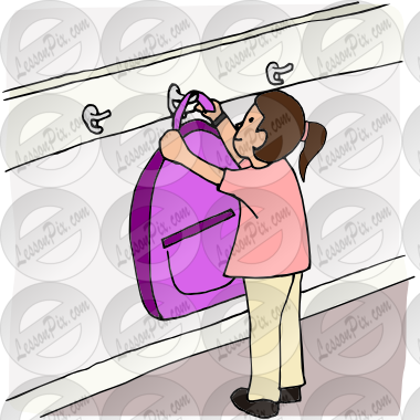 vector library download Backpack clipart away. Hang up picture for.