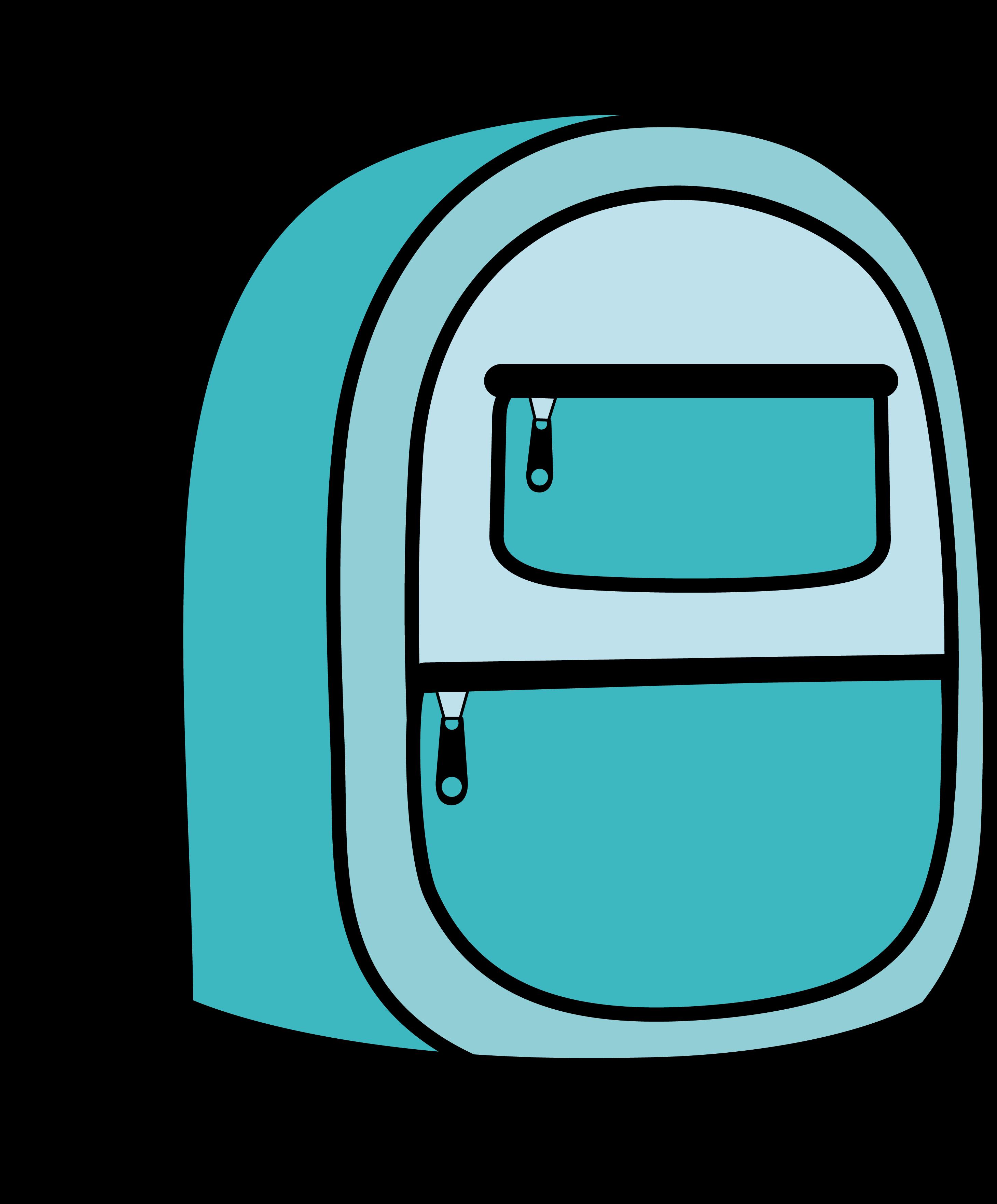 clipart royalty free download Blue backpack . Bookbag clipart junior school
