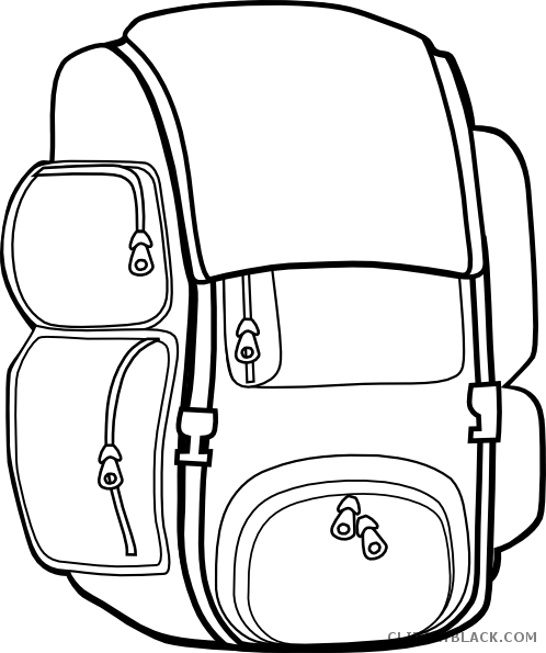 banner royalty free download Backpack Line Art Clipart