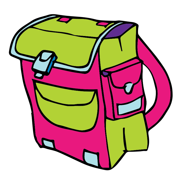 vector freeuse stock This cartoon school clip. Children clipart backpack.