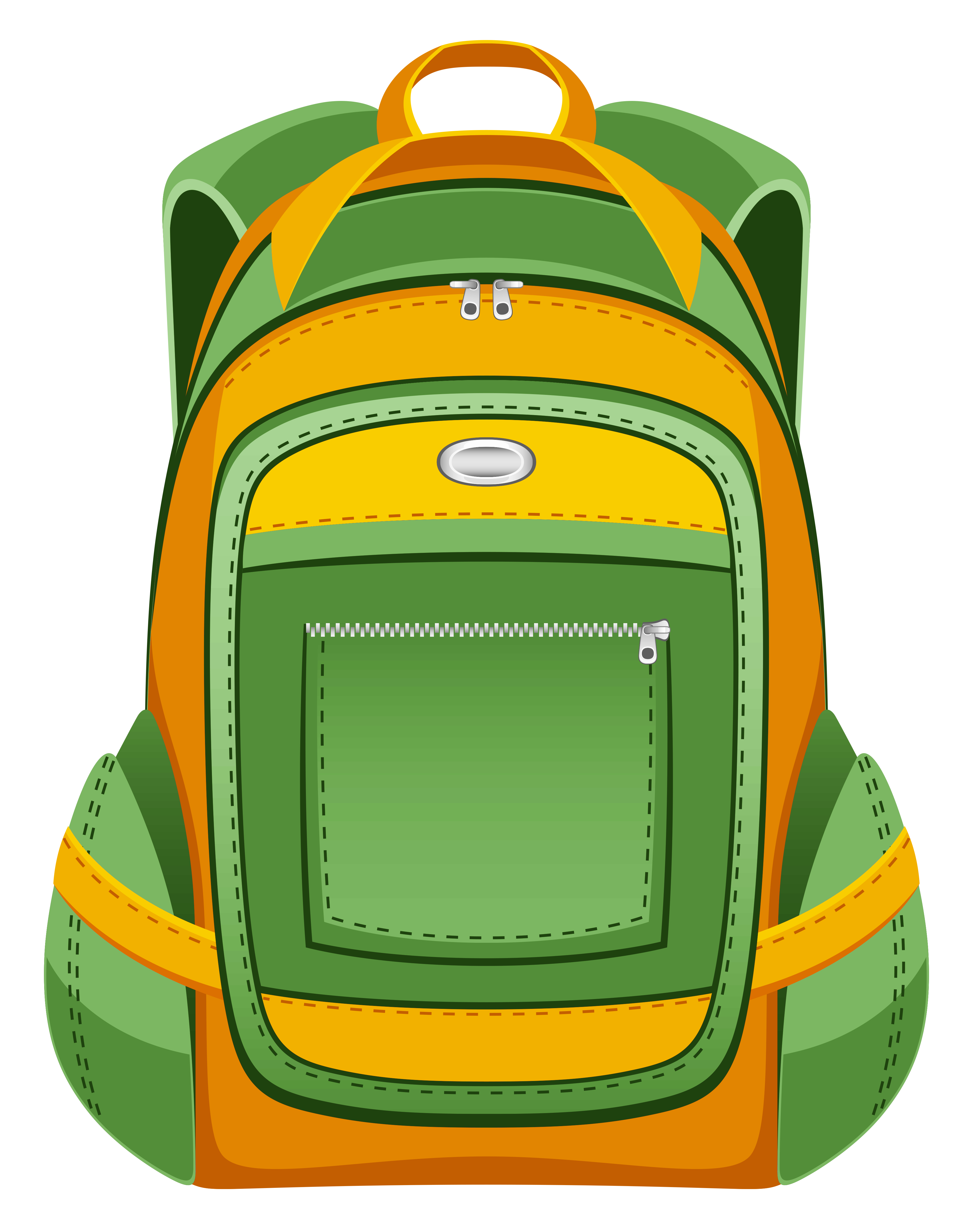 clipart free download Bookbag clipart junior school. Green and yellow backpack