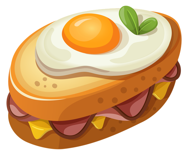 clip black and white library Quote vector breakfast food. Sandwich with egg png
