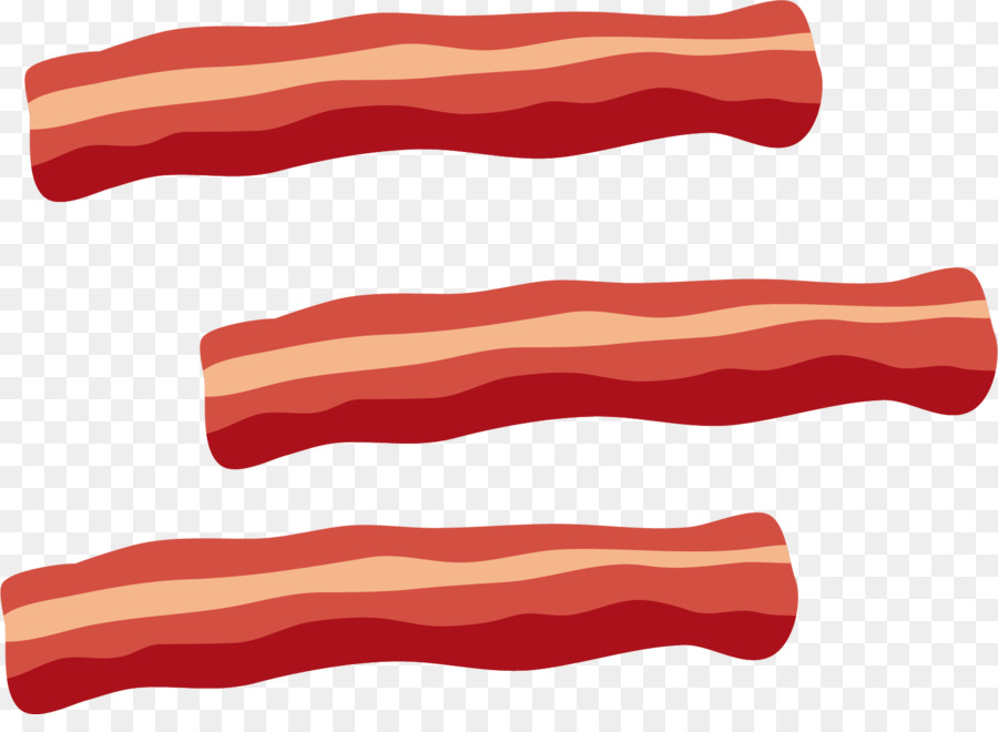 banner freeuse Bacon clipart. Red background meat transparent