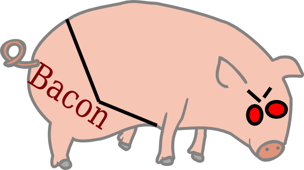 vector black and white library Graph clip art at. Bacon clipart