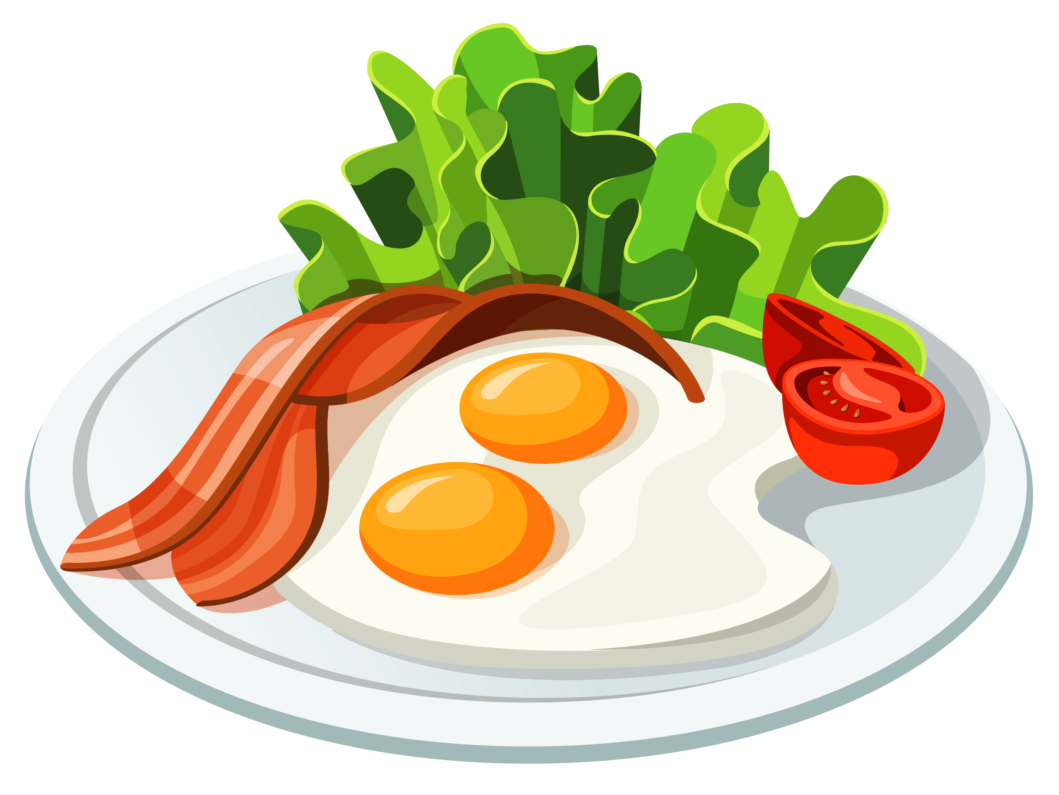 banner black and white stock Eggs and Bacon PNG Vector Clipart