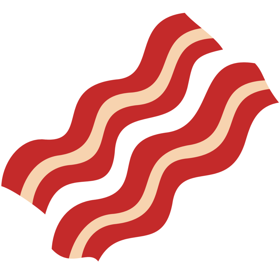 vector HQ Bacon PNG Transparent Bacon