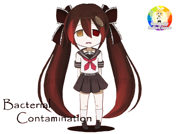 vector freeuse stock Render Chibi Bacterial Contamination by candlehead