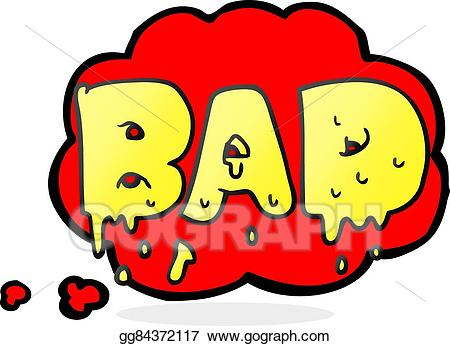 jpg library library Bad clipart. Vector art thought bubble