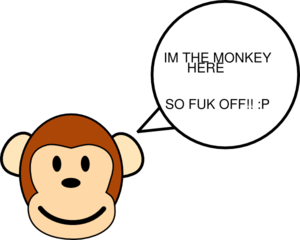 vector freeuse stock Bad clipart. My monkey is clip