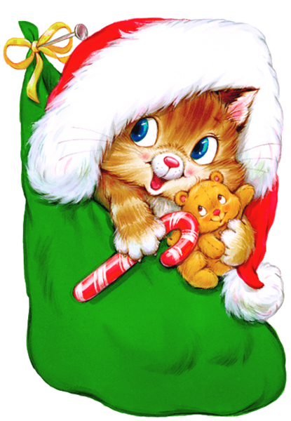 svg free download Transparent Christmas Kitten with Candy Cane Clipart