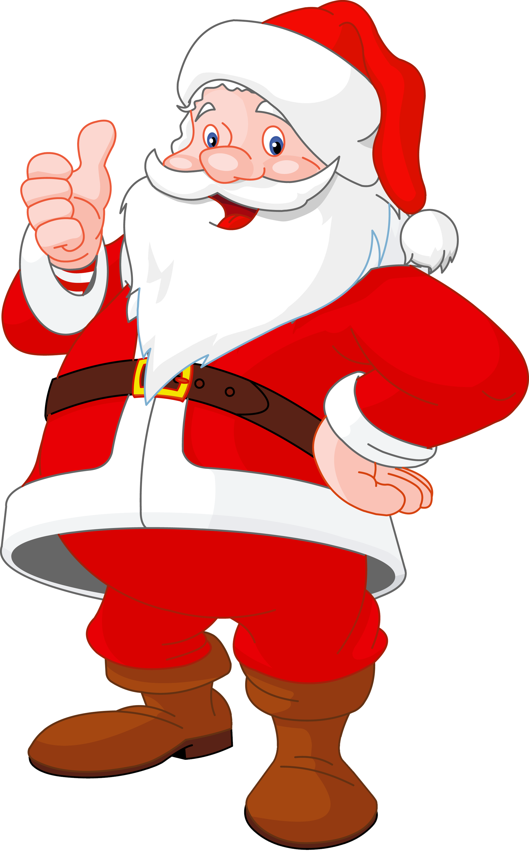 image free stock Christmas cartoon clipart. Transparent santa claus gallery.