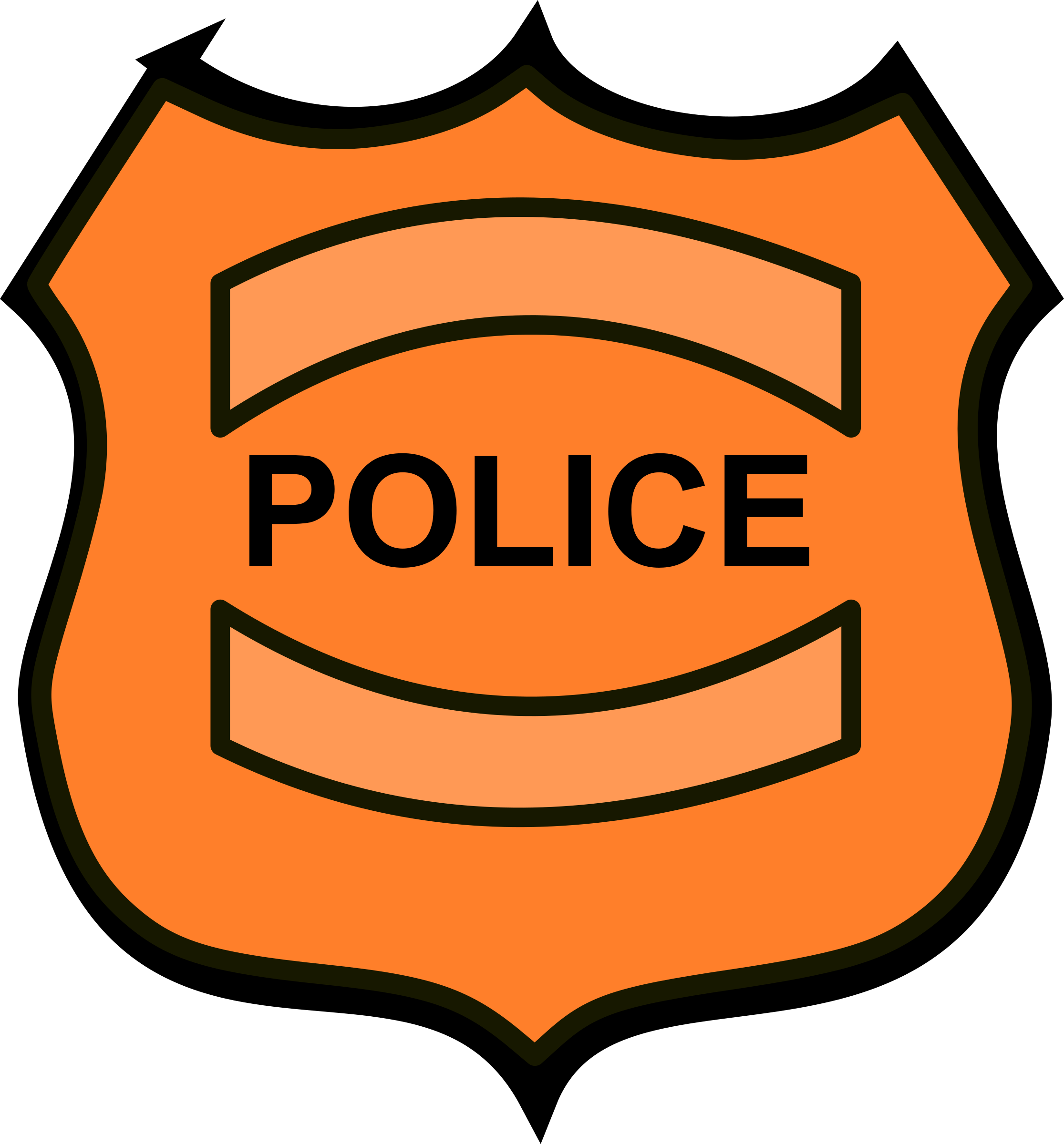 clipart transparent stock Police badge big image. Marquee clipart.