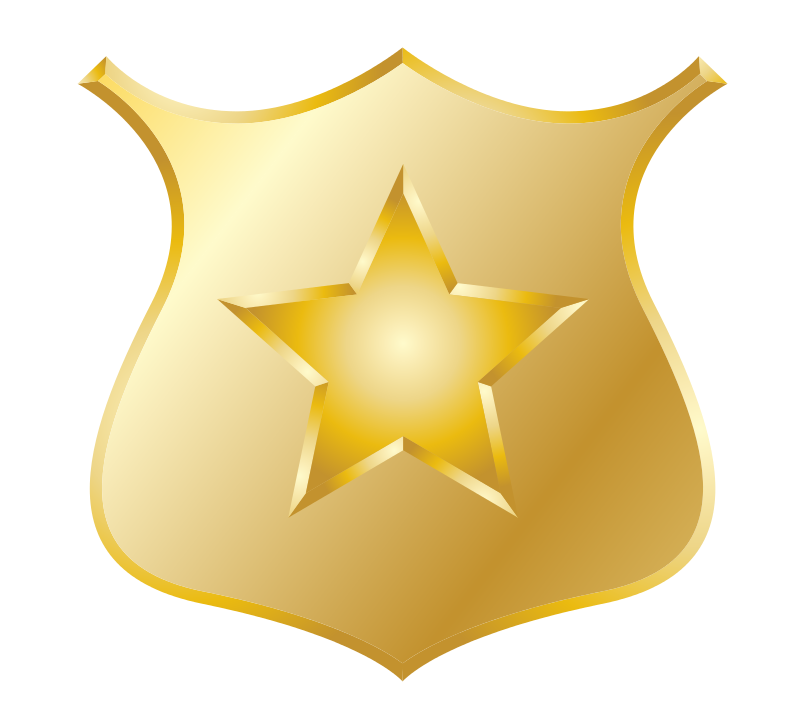 transparent library Free clip art gold. Badge clipart chief police.