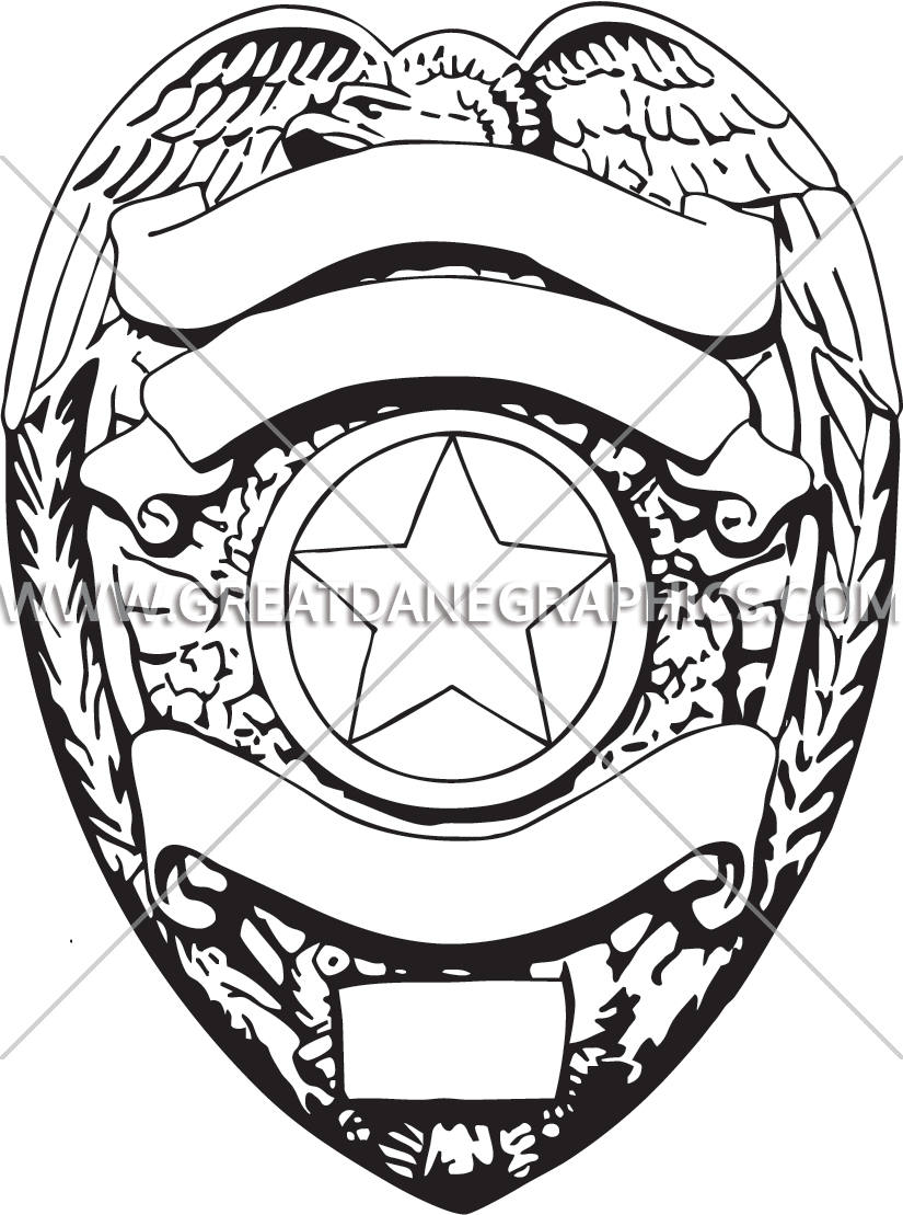 png black and white Police Badge Drawing at GetDrawings