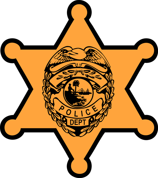 freeuse download Police badge outline clipart kid