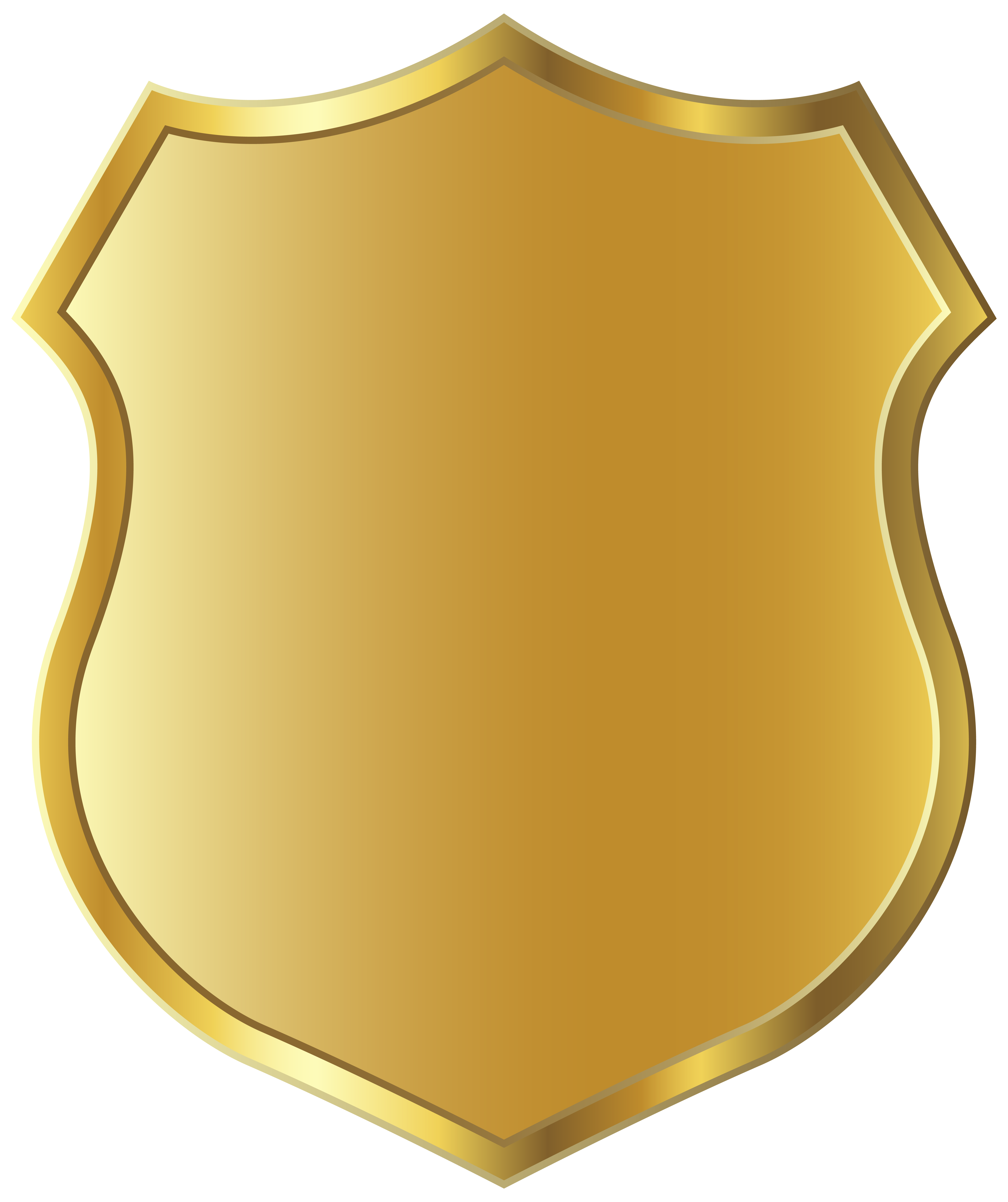 png download Golden badge template clipart. Board clip gold