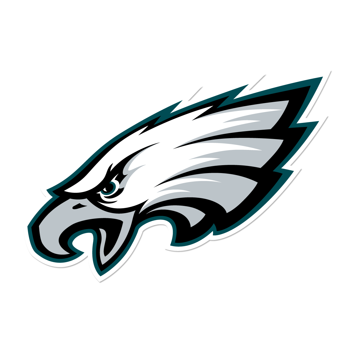 svg black and white library Clip philadelphia art. Eagles logo group with