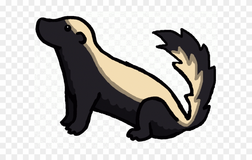 vector transparent Clip art black and. Badger clipart