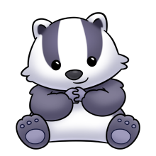 svg freeuse Badger clipart. Panda free images badgerclipart