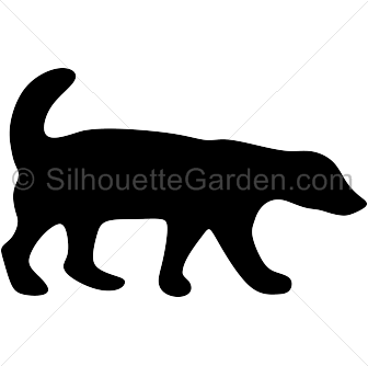 vector transparent download Badger clipart. Honey silhouette clip art